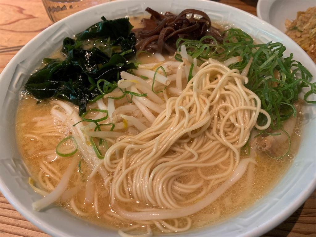 博多濃麻呂の味噌ラーメンと麺