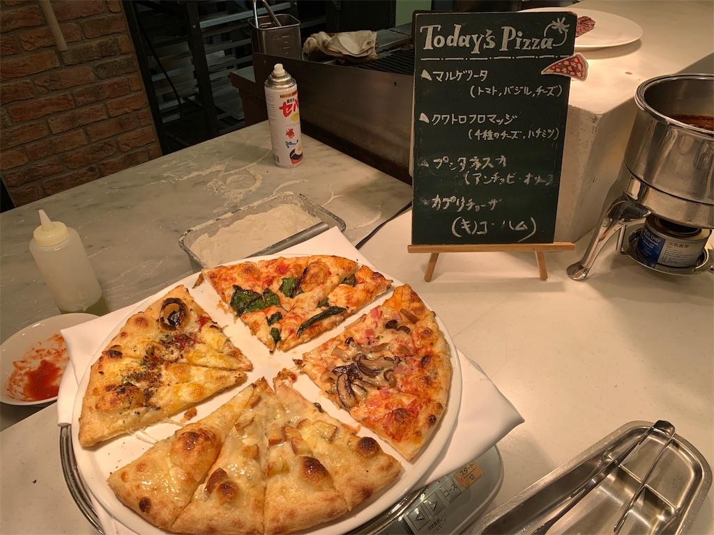 ANAクラウンカフェの本日のピザ