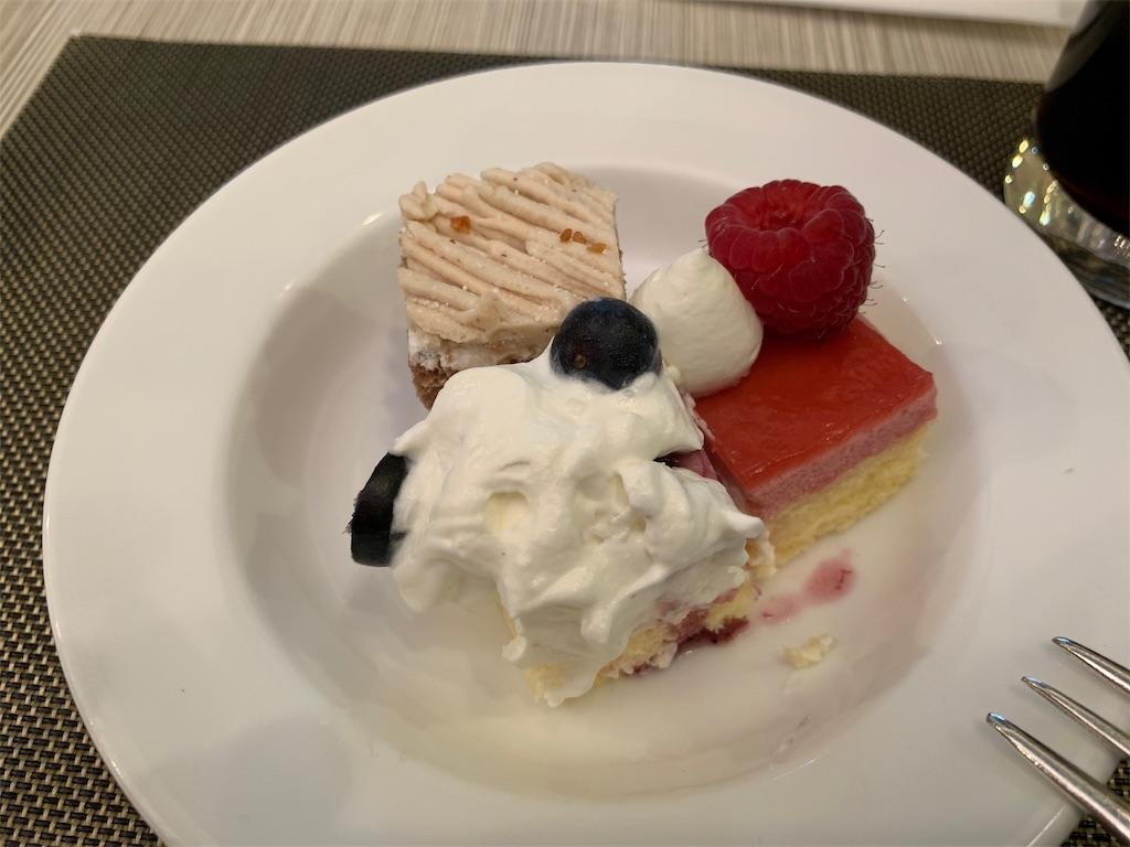 ANAクラウンカフェのシメのデザート