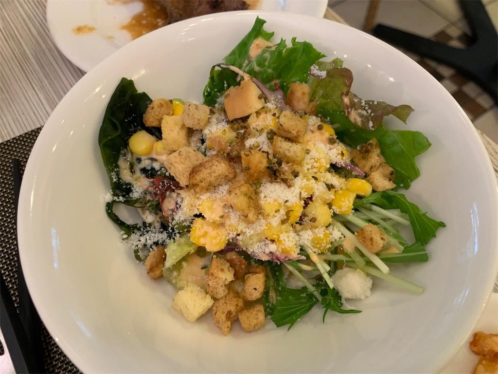 ANAクラウンカフェの彩りサラダ