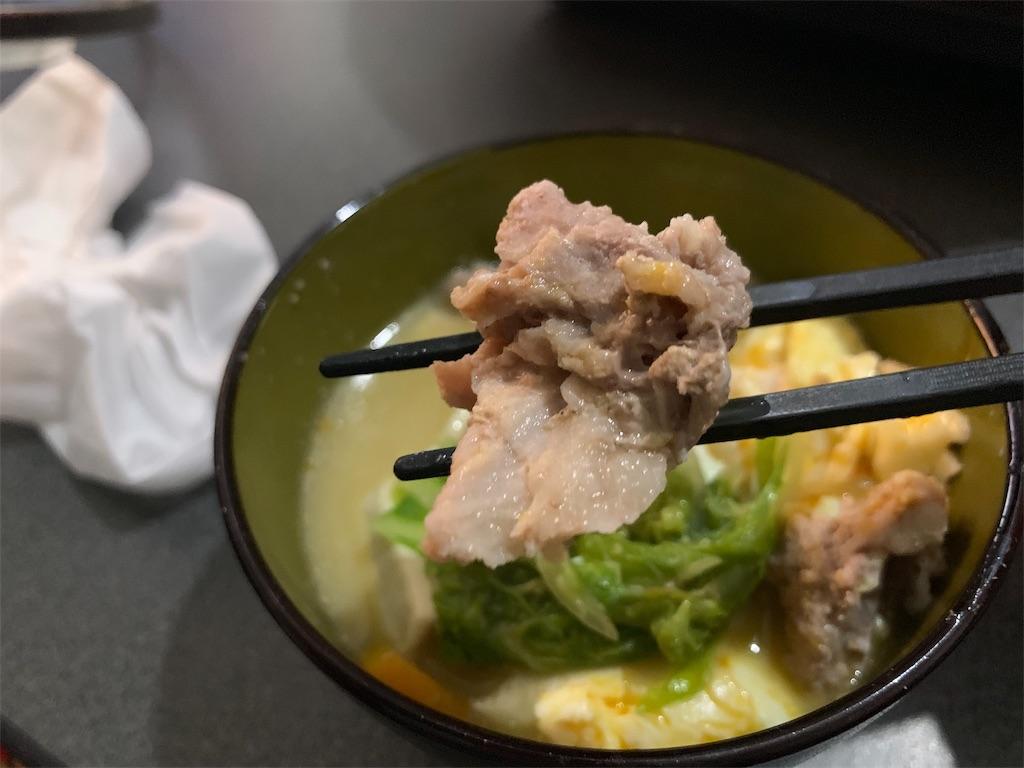 ミツカンごま豆乳鍋と豚肉