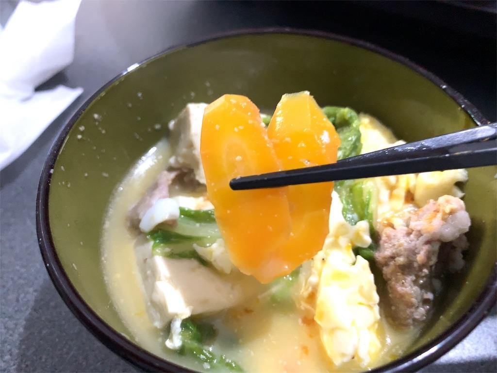 ミツカンごま豆乳鍋とにんじん
