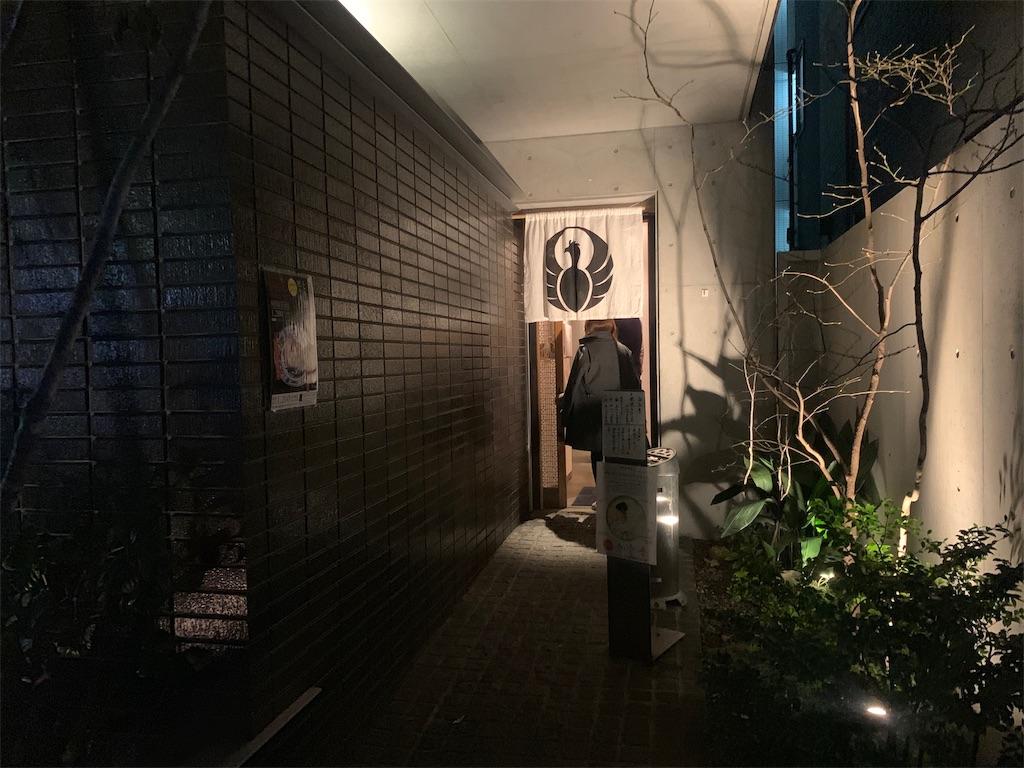 博多水炊き とり田の薬院店のお店の入り口