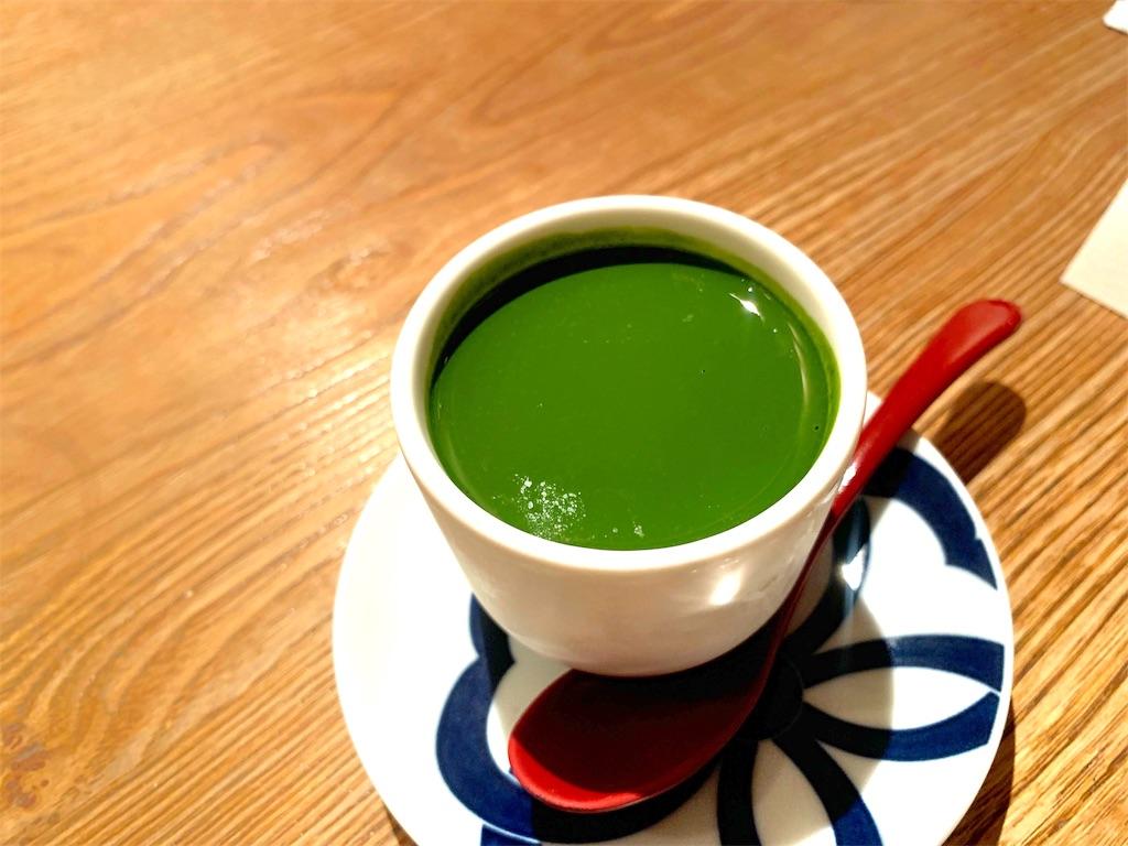 博多水炊き とり田の抹茶のパンナコッタ