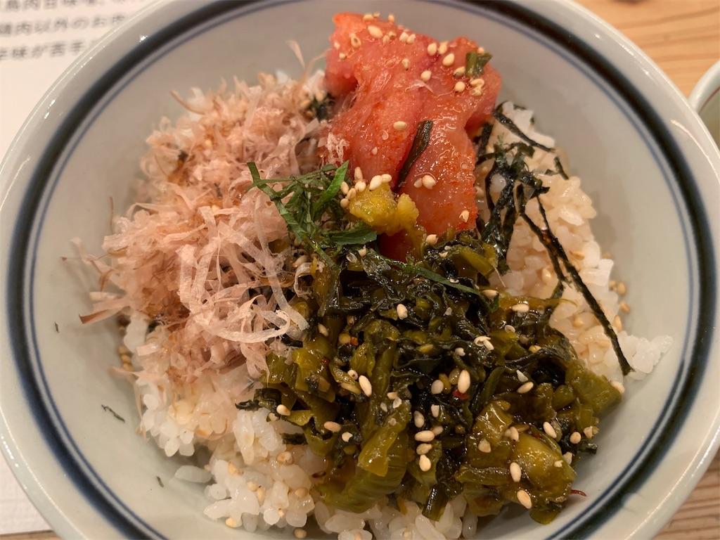 博多坦々麺とり田の博多めんたい丼の具材