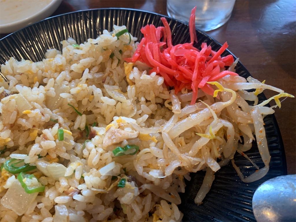 真麺武蔵のチャーハンとトッピング