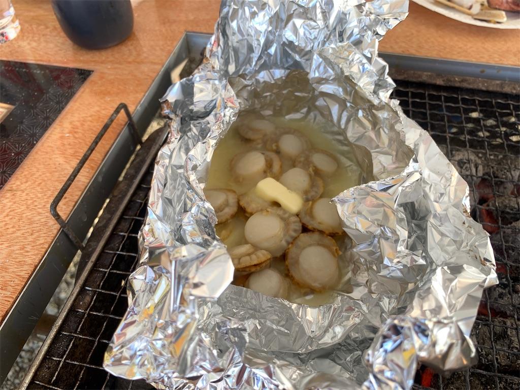 かき焼き処貝鮮丸のベビーほたてホイル焼き