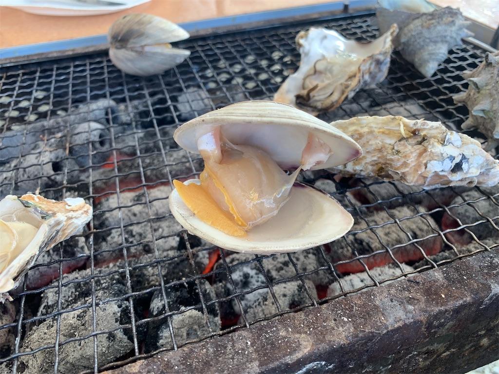 かき焼き処貝鮮丸のハマグリ