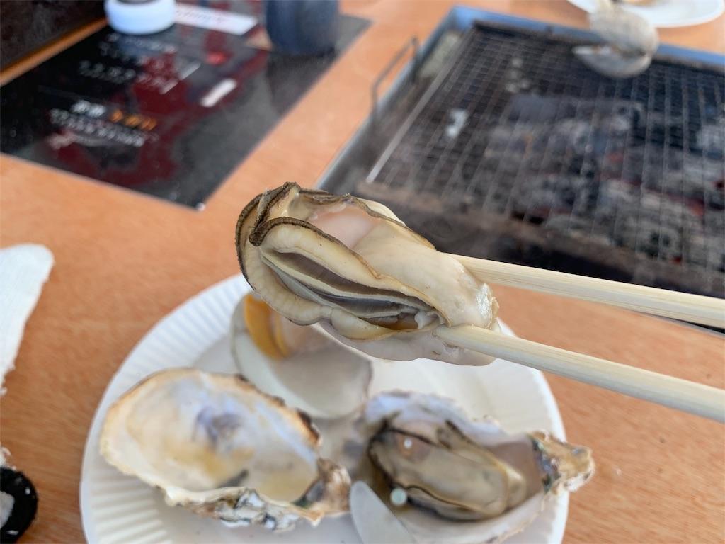 かき焼き処貝鮮丸の牡蠣の身