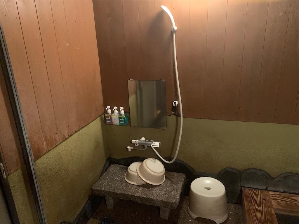 湯処風月の露天風呂のシャワー