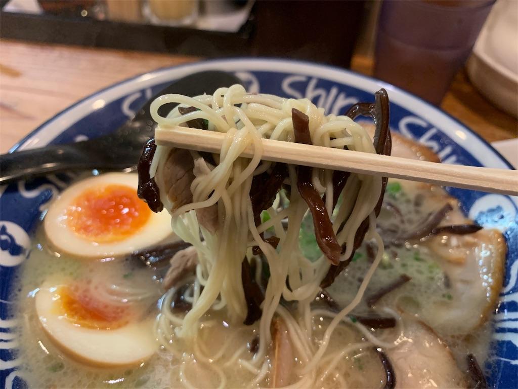 shinshinのラーメンの麺