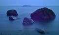 「地平線の彼方に・・」   竹生島:琵琶湖