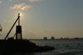 「灯台に陽が・・」   琵琶湖