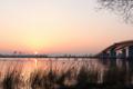 びわ湖の夜明け
