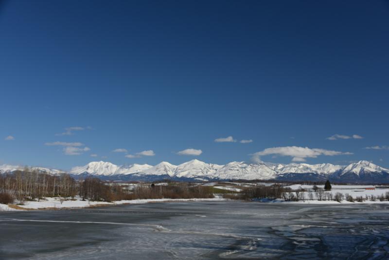水沢ダムから見る「大雪山」