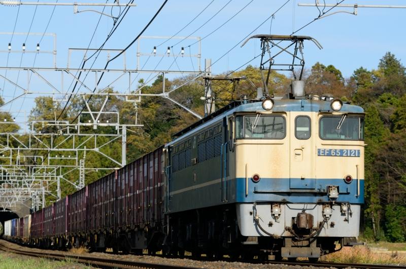 佐倉-物井_96レ_EF65PF-2121号機(新鶴見)+コキ牽引