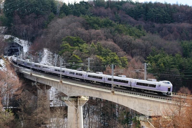 信濃境-富士見_E351系特急スーパーあずさ11号