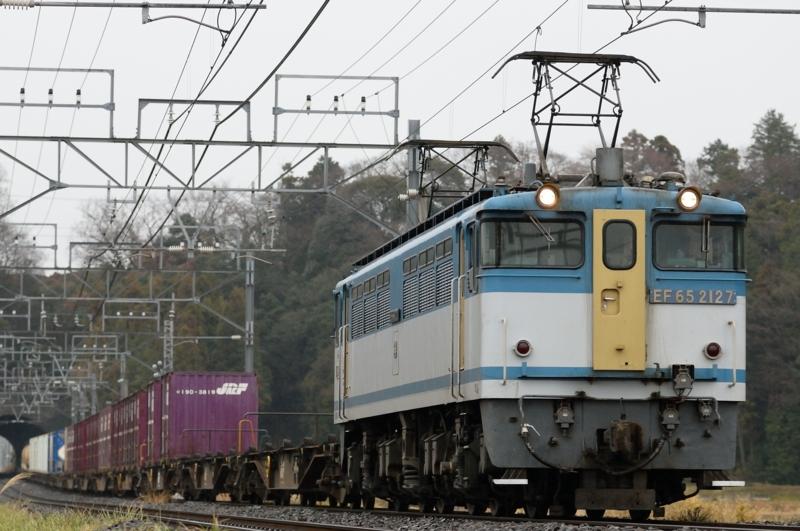 佐倉-物井_96レ_EF65PF-2127号機(新鶴見)+コキ牽引