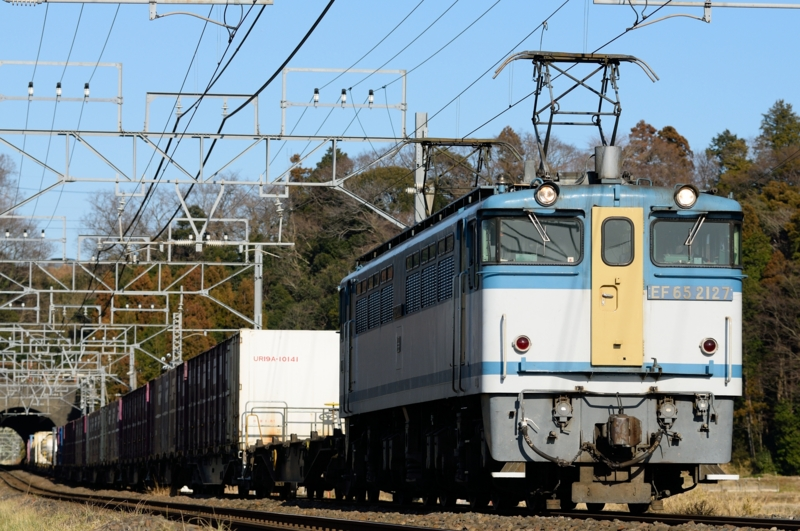 佐倉-物井_96レ_EF65PF-2127(新鶴見)+コキ牽引