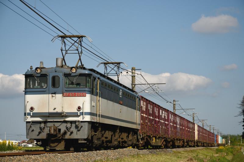 滑河-下総神崎_1094レ_EF65PF-2069号機(新鶴見)+コキ15B