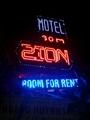 ZION HOTEL看板