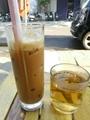 Mộc đỏ Cà phê sữa đá