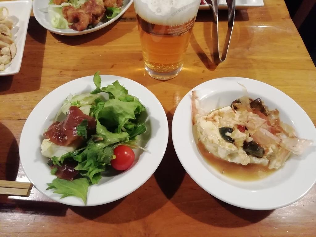 右:ピータン豆腐 左:カツオカルパッチョ