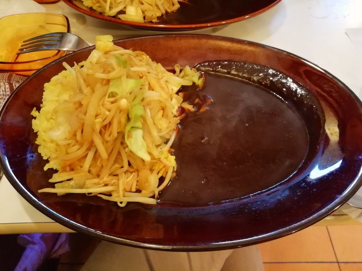 野菜炒めカレー 850円