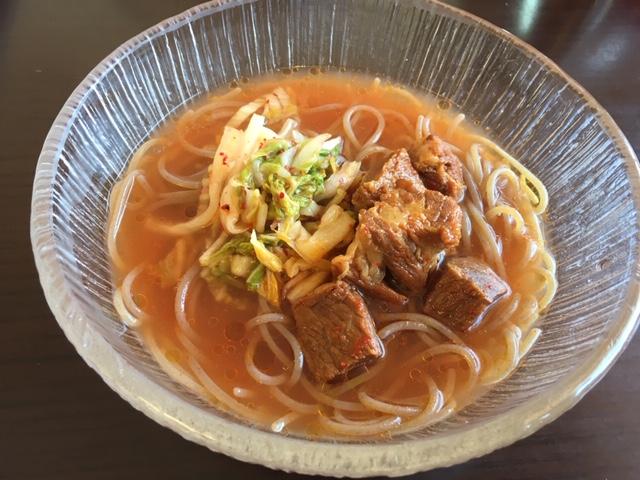 牛肉冷麺 1,250円 たかひ高関店