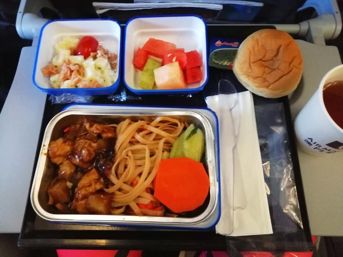 マカオ航空機内食の、まあいろんな意味でおいしい事!
