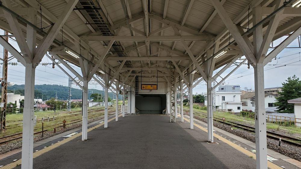 白河駅のホーム
