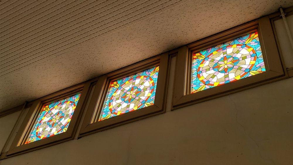 白河駅のステンドグラス