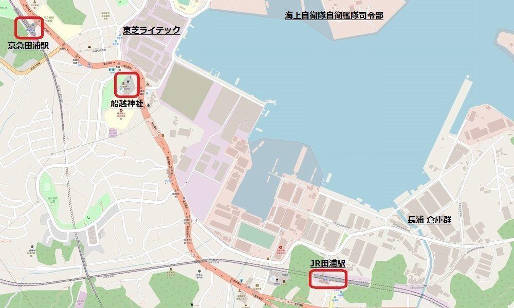 田浦周辺地図