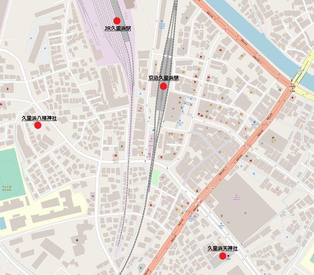 久里浜周辺地図