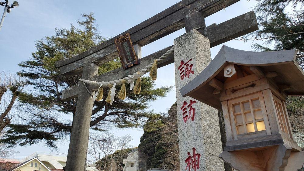 大津諏訪神社の鳥居