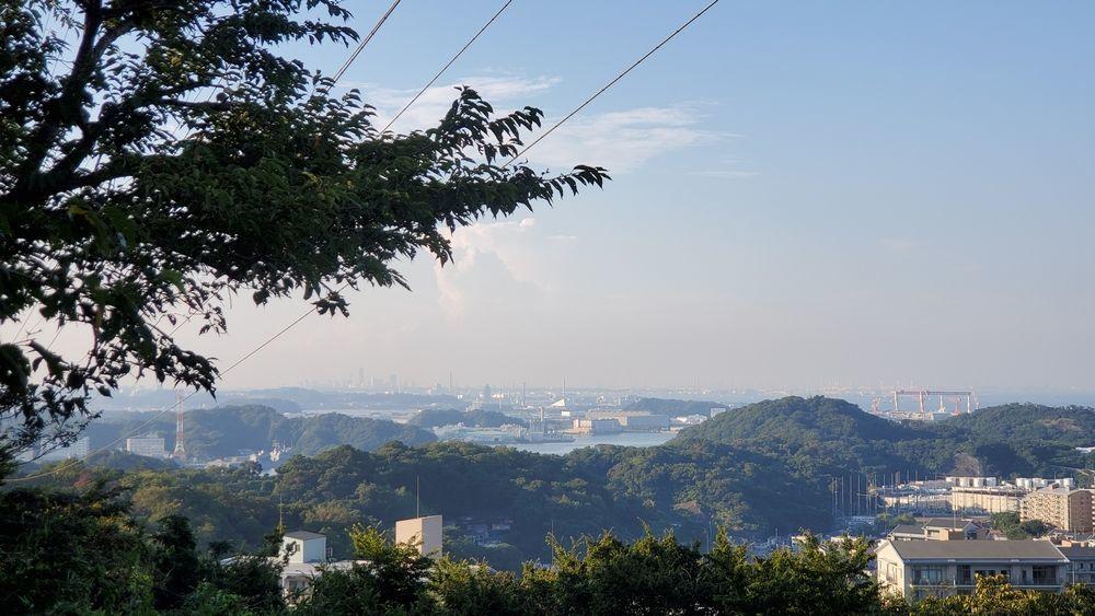 塚山公園・港の見える丘から見た景色