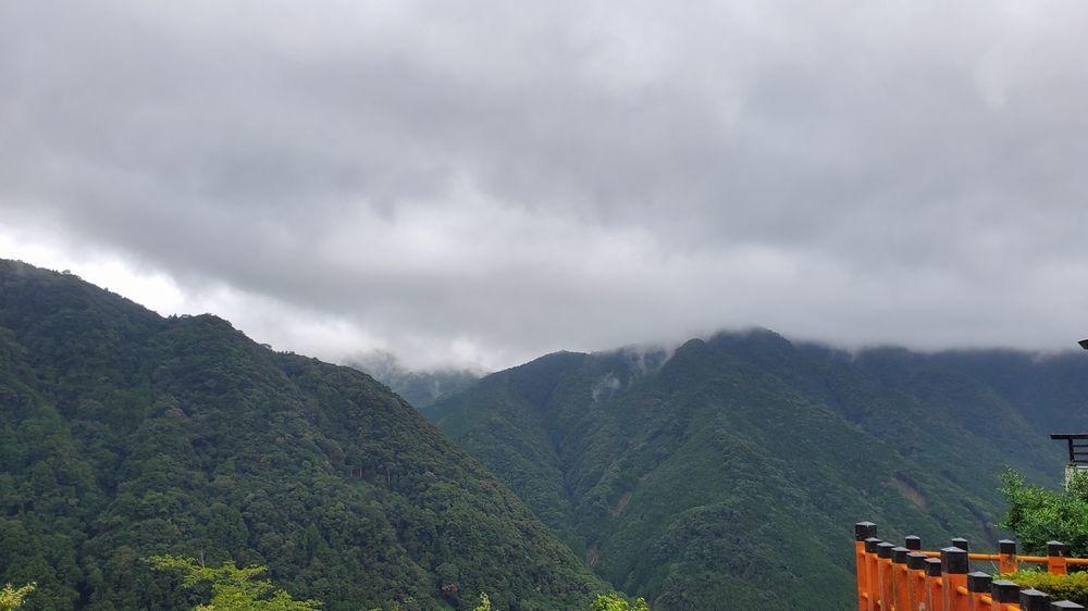 熊野那智大社から見た景色
