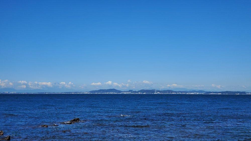 金谷港から見た風景