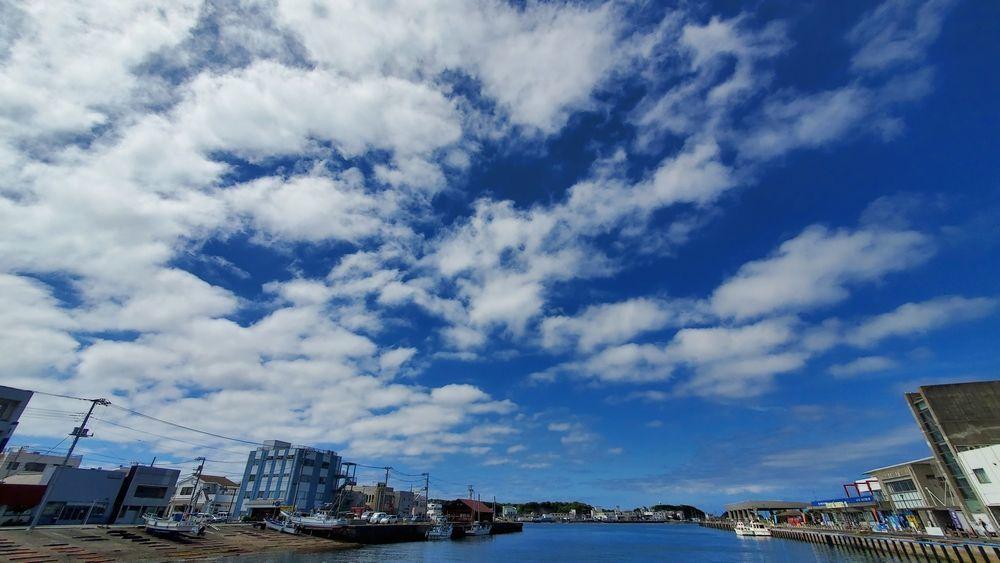 三崎港で見た空