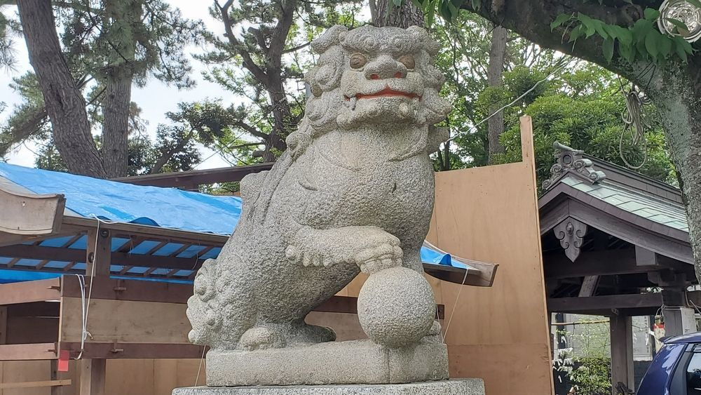 平塚三嶋神社 狛犬
