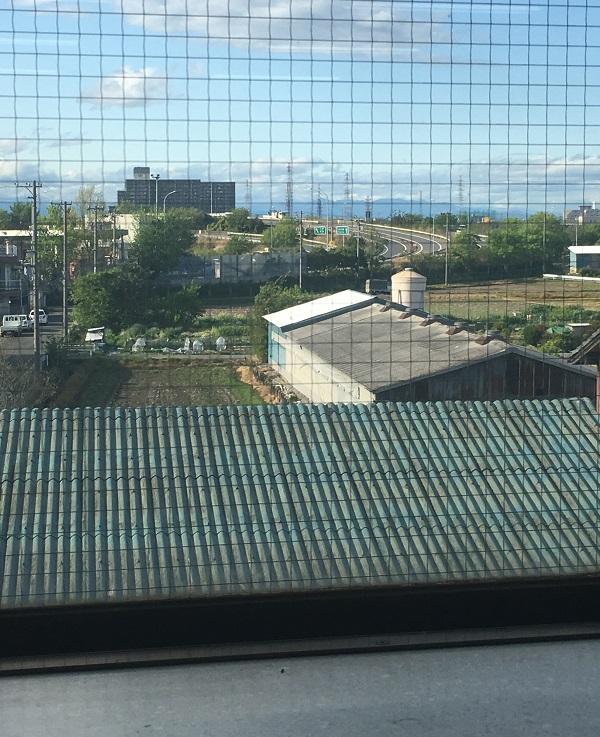 事務所・北側窓から見る蟹江IC