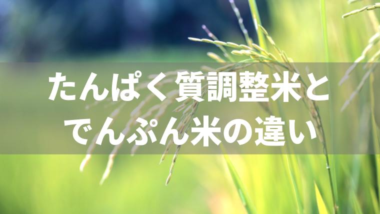 たんぱく質調整米とでんぷん米の違い