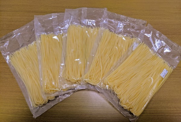 ジンゾウ先生のでんぷん生パスタは5袋入っています