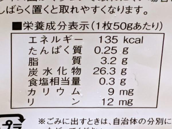 冷凍 越後の食パンの栄養成分