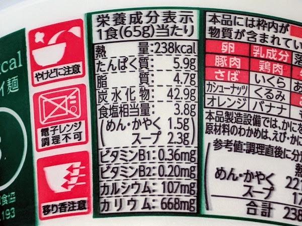 評判屋 わかめ醤油ラーメンの栄養成分