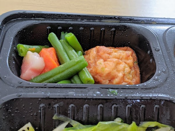 揚げ豆腐しんじょと野菜の炊き合わせ