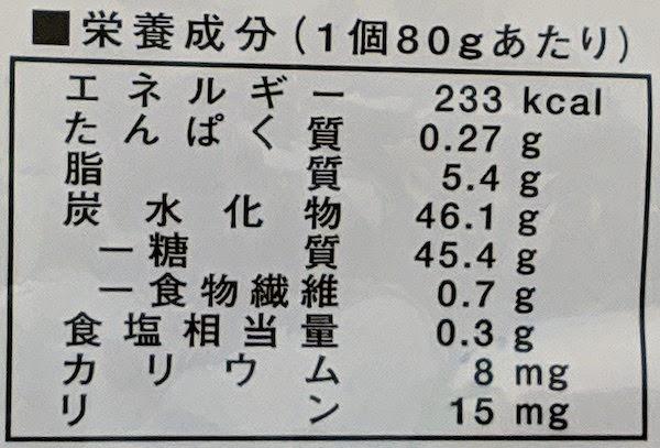 越後の低たんぱくバーガーパンの栄養成分