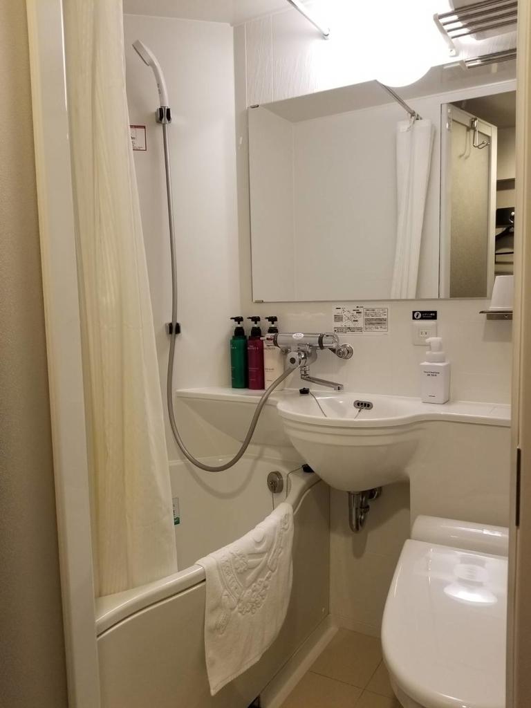 アパホテルのシャワー室