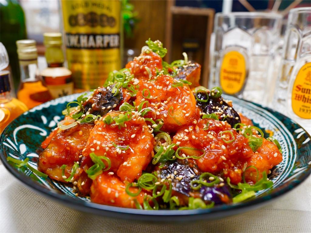 【レシピ】海老と茄子のチリソース炒め♬の画像