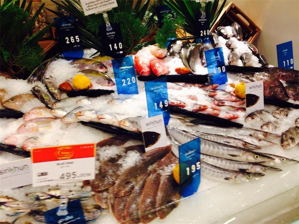 陳列される魚